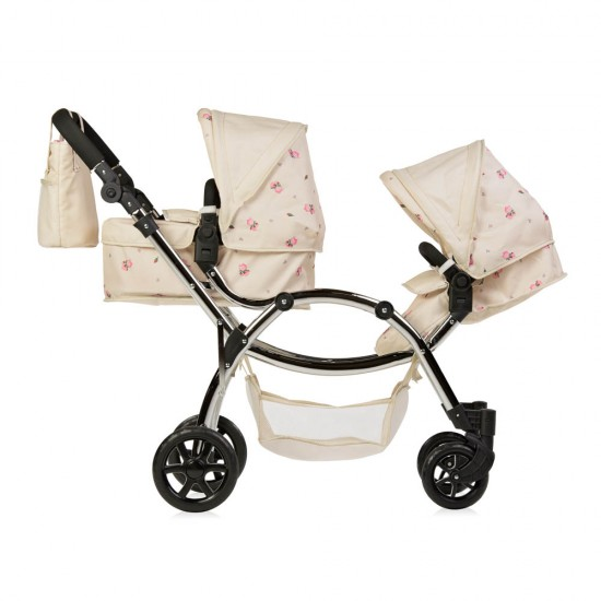 Roma Darcie Twin Dolls Pram - Cream 3-16 years